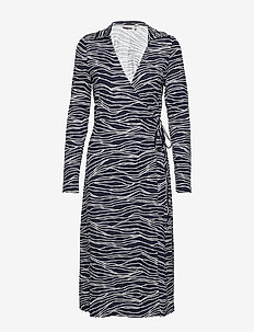 BYPEMMY WRAP DRESS - - COPENHAGEN NIGHT COMBI 1