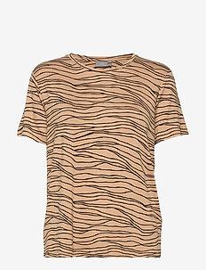 BYRILLO TSHIRT 3 - - t-shirts - almond combi 1