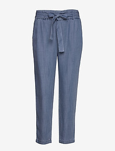BYLANA PANTS - - pantalons droits - med. blue denim