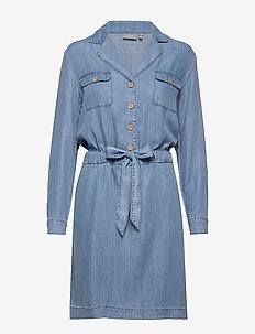 BYLANA DRESS - - shirt dresses - med. blue denim