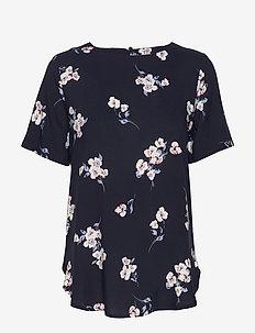 BYISOLE ONECK BLOUSE - - blouses korte mouwen - copenhagen night combi 6