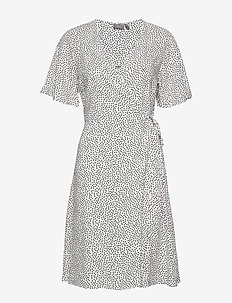 BYISOLE WRAP DRESS - - wrap dresses - off white combi 8