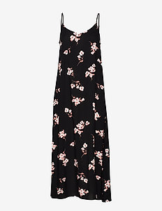 BYISOLE SLIP IN DRESS - - maxi dresses - black combi 9