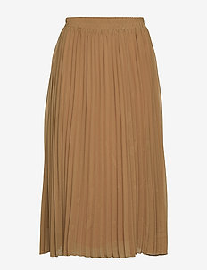 BYFOYA PLISSE SKIRT2 - - GOLDEN SAND