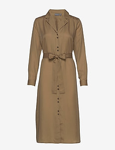 BYGOLDA DRESS - - shirt dresses - golden sand