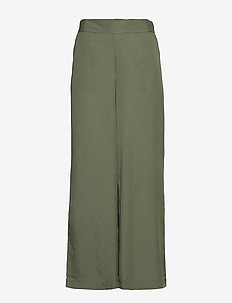 BYGOLDA PANTS - - wide leg trousers - sea green