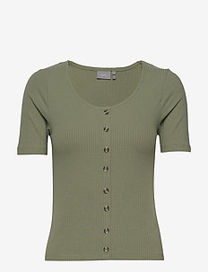 BYTOELLA TSHIRT2 - JERSEY - t-shirts - sea green