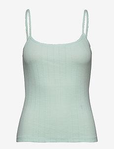 BYSILLA STRAP TOP - - tops zonder mouwen - bleached aqua