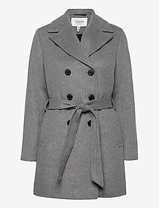 BYABIA COAT - - wool coats - med. grey mel.