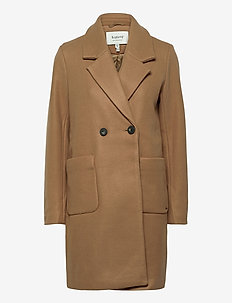 BYCONELIA COAT - - wool coats - mel. golden sand