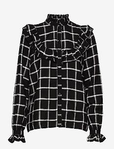 BYFLORI SHIRT - - pitkähihaiset paidat - black combi 1