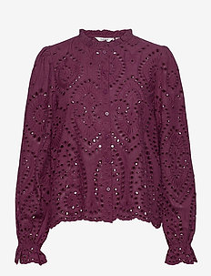 BYGABRIELLA BLOUSE - - long sleeved blouses - winetasting