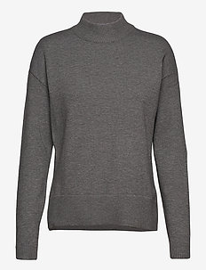 BYNONINA TURTLE - KNIT - poolopaidat - med. grey mel.
