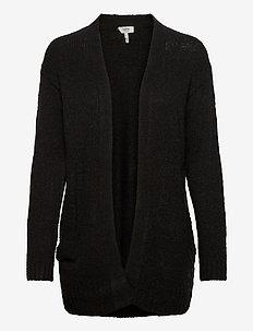 BYMIRELLE SHORT CARDIGAN 2 - - cardigans - black