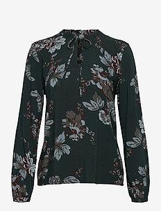 BYHENNA BLOUSE - - blouses à manches longues - deep teal mix