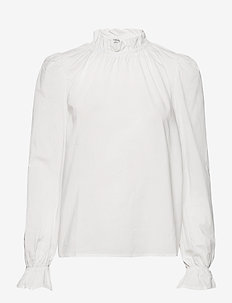 BYFLICKA BLOUSE - - long sleeved blouses - optical white