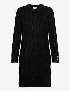 BYNORA DRESS - - strikkjoler - black