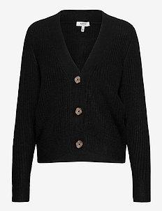 BYNORA SHORT CARDIGAN - - cardigans - black