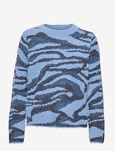 BYNOLLE JUMPER - - gensere - country blue mix