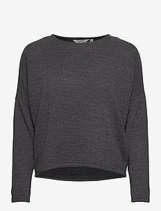 BYRASSA PULLOVER - - pitkähihaiset t-paidat - dark grey melange