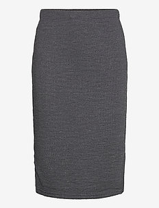 BYRASSA SKIRT - - jupes midi - dark grey melange