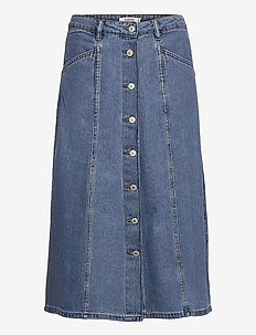 BYLYRA SKIRT - - jeanskjolar - ligth blue denim