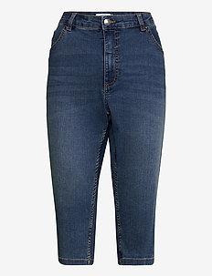 BYLOLA BYKARISE CAPRI - - pantalons capri - mid blue denim