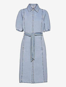 BYKEYLA DRESS - - robes chemises - ligth blue denim