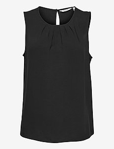 BYMMJOELLA SL TOP - - sleeveless blouses - black
