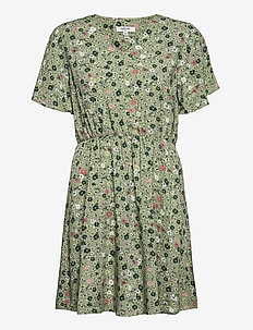 BYMMJOELLA SS DRESS - - summer dresses - oil green mix