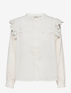 BYGESINE BLOUSE - - long sleeved blouses - off white