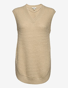 BYOTHEA SLIPOVER - - knitted vests - oyster