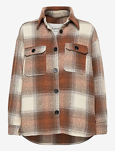 BXDORTHEA JACKET - wool jackets - tortoise shell check