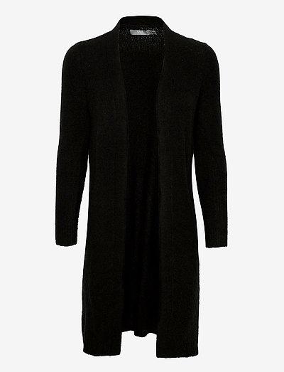 BYMIRELLE LONG CARDIGAN 3 - - cardigans - black