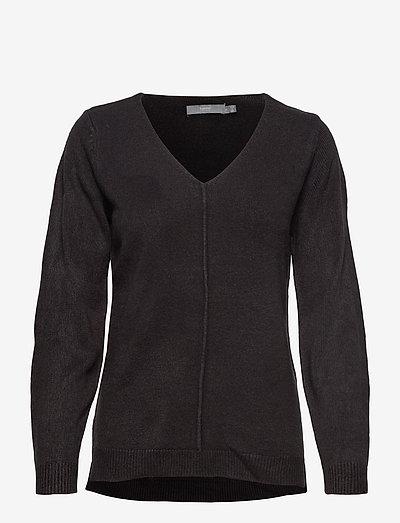 BYMALEA V NECK JUMPER - - trøjer - black