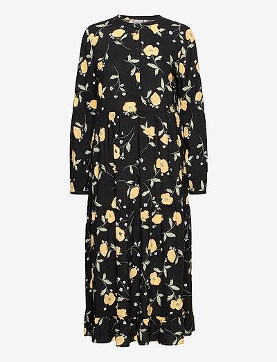 BYISOLE LONG DRESS - - hverdagskjoler - black combi 2