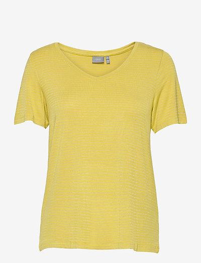 BYSOVEA TSHIRT 2 - - t-shirts - acid yellow combi 1