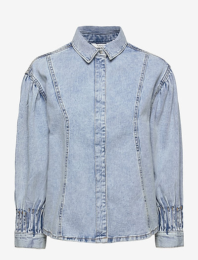 BYLYRA SHIRT - - tøj - ligth blue denim