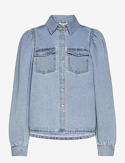 BYKEYLA SHIRT - - denimskjorter - ligth blue denim