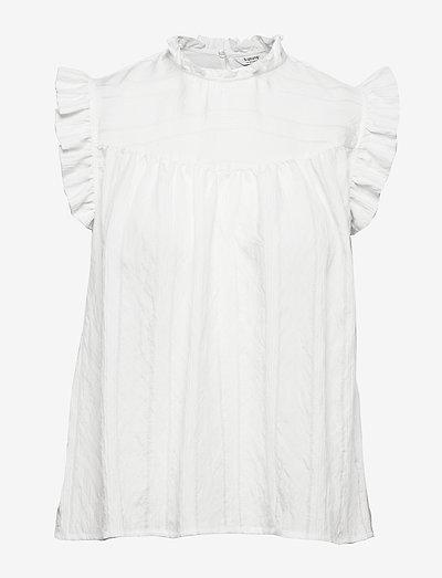 BYIMMY TOP - - kortærmede bluser - off white