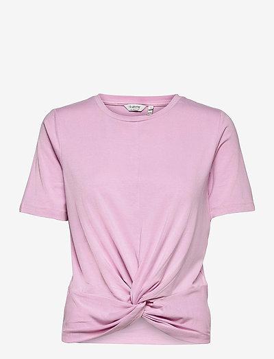 BYTAMALA KNOT TSHIRT - - t-shirts - pink sachet