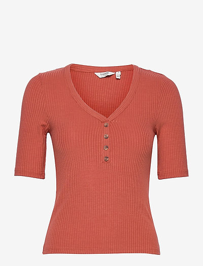 BYTOELLA SS TSHIRT 2 - - t-shirts - etruscan red