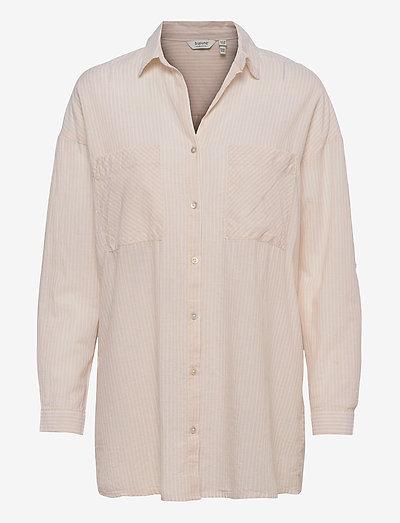 BYFIE YD STRIPE SHIRT - - langærmede skjorter - oyster mix