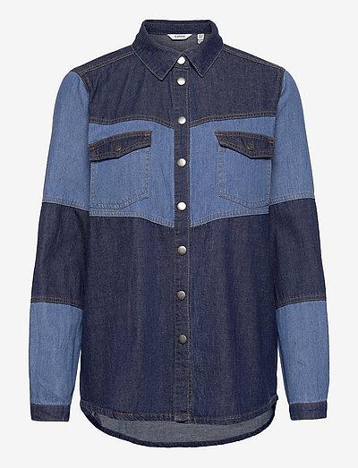 BYKAYSA DENIM SHIRT - - denimskjorter - mid blue denim