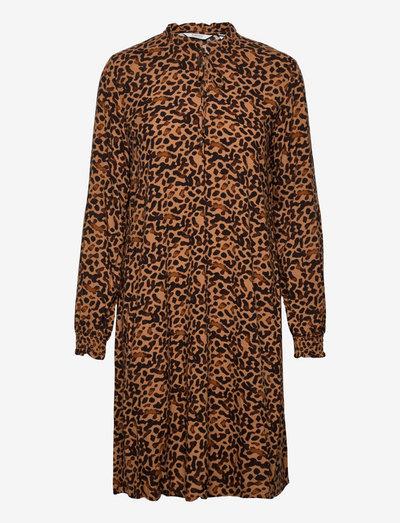 BYJOSA VNECK DRESS - - sommerkjoler - tobacco brown mix