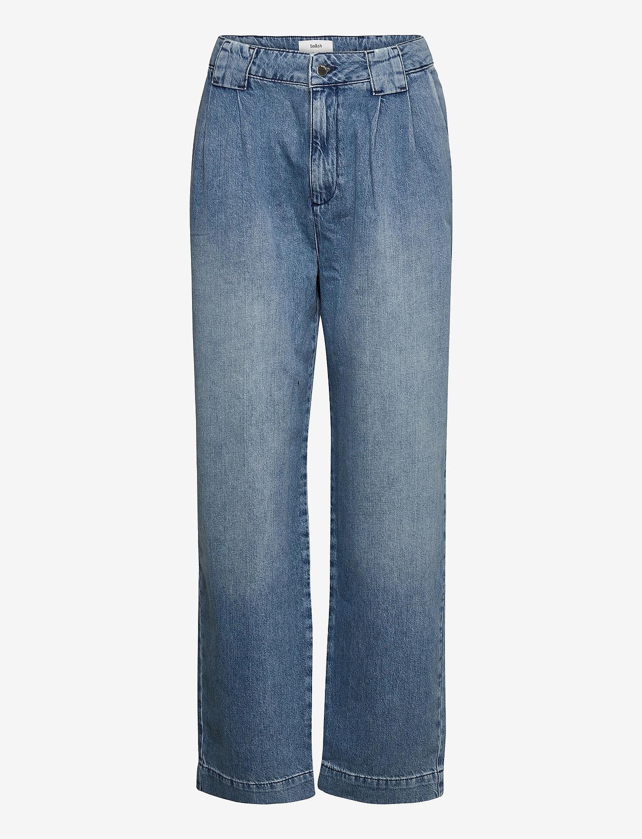ba&sh - SAXO PANT - brede jeans - light use dblue - 1