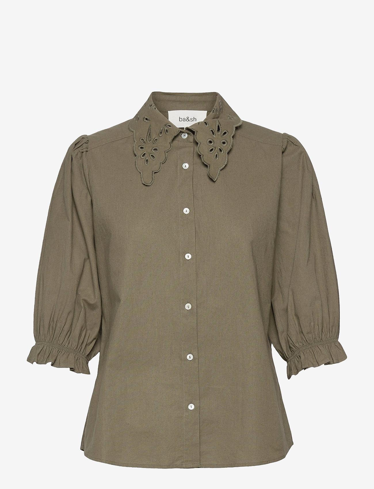 ba&sh - YSEULT SHIRT - blouses met korte mouwen - khaki - 1