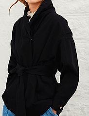 ba&sh - LOST JACKET - wool jackets - black - 0