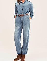ba&sh - SAXO PANT - brede jeans - light use dblue - 0