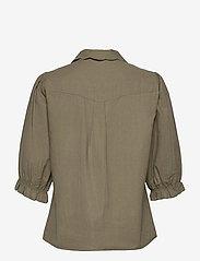 ba&sh - YSEULT SHIRT - blouses met korte mouwen - khaki - 2